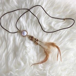 Jewelry - Beautiful Simple Rose Gold Feather Necklace